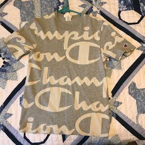 Champion Big Script Heritage T-Shirt 'Grey'